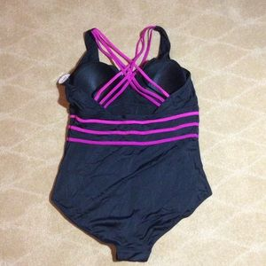 Swimsuits For All Swim - Swimsuits For All NWT Multi-Strap Active 1 Pc., 20